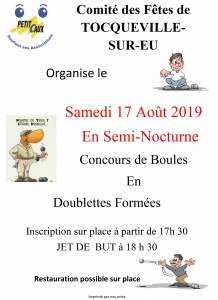 Concours de Pétanque en semi-nocturne - Toqueville-sur-Eu