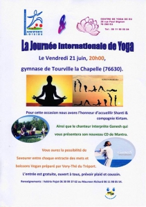 Journée internationale du Yoga - Tourville-la-Chapelle @ Gymnase