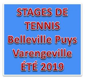 Stages de Tennis, été 2019 - Puys