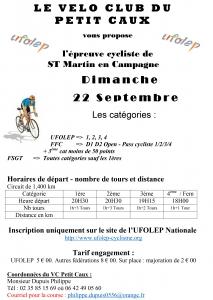 Epreuve cycliste - Saint-Martin-en-Campagne