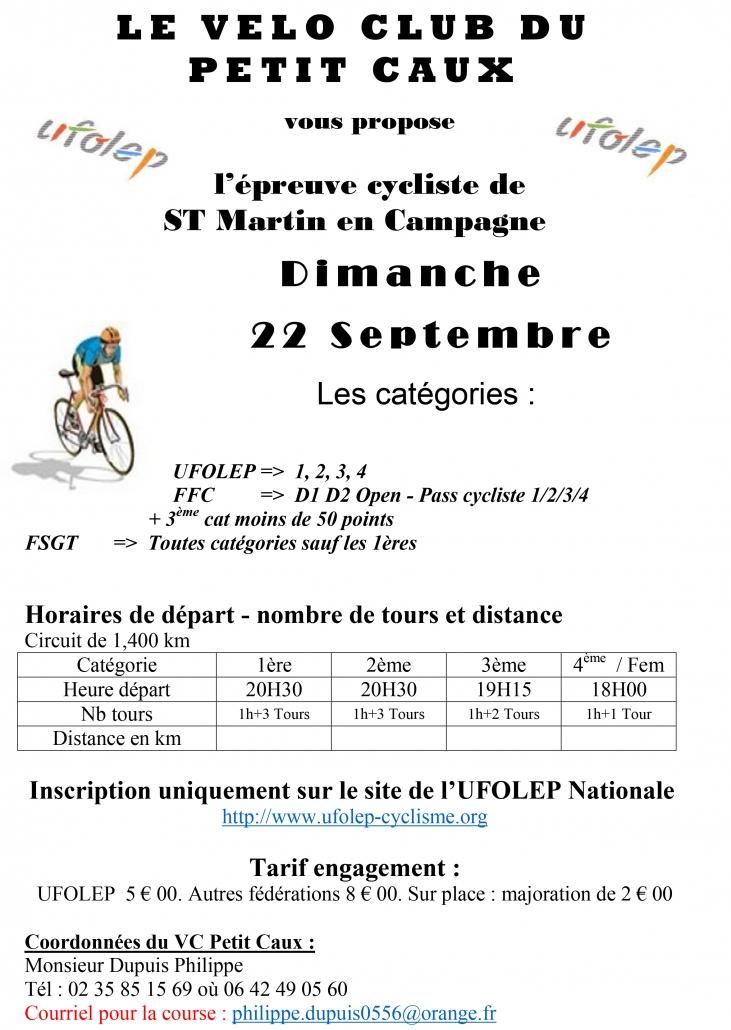 Calendrier Ufolep 2019 Cyclisme.Epreuve Cycliste Saint Martin En Campagne Vivre A Petit Caux