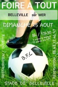 Foire à tout - Belleville-sur-Mer @ Stade de football