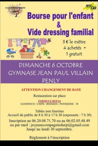 Bourse pour l'enfant et vide dressing - Penly @ Gymnase Jean-Paul Villain