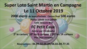 Super Loto du FC Petit-Caux - Saint-Martin-en-Campagne @ Salle Jacques Brel