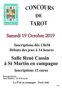 Concours de Tarot - Saint-Martin-en-Campagne @ Salle René Cassin