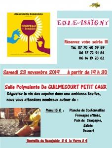 Soirée Beaujolais - Guilmécourt @ Salle polyvalente