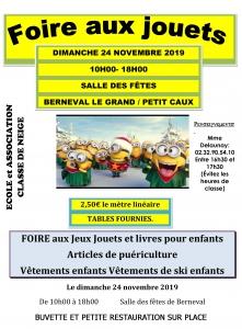 Foire aux jouets - Berneval-le-Grand @ Salle des fêtes