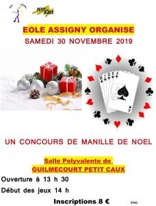 Concours de Manille de Noël - Guilmécourt @ Salle polyvalente