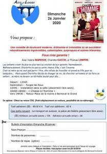 Sortie Théâtre 'Chasse à l'Homme' - Forges les Eaux @ Forges-les-Eaux | Forges-les-Eaux | France